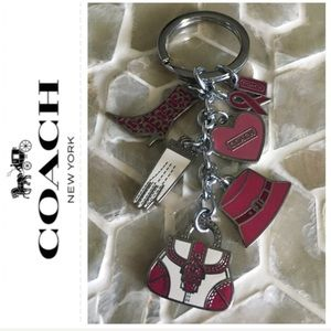 AUTHENTIC Coach (Breast Cancer) charm fob keychain